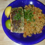Pine Nut Encrusted Salmon Steak